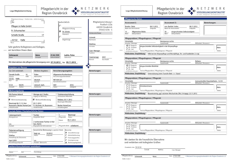 Nett Pflegebericht Vorlage Bilder - Beispielzusammenfassung Ideen ...